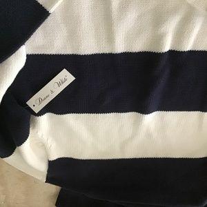 Deane and Warren navy stripe cotton pullover  smal